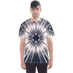 Abstract Fractal Space Men s Sports Mesh Tee