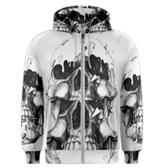 Black Skull Men s Zipper Hoodie