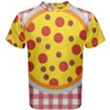 Pizza Table Pepperoni Sausage Men s Cotton Tee View1