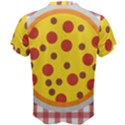 Pizza Table Pepperoni Sausage Men s Cotton Tee View2