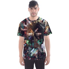 Abstract Texture Men s Sports Mesh Tee