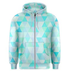 Blue Abstract Pattern Men s Zipper Hoodie