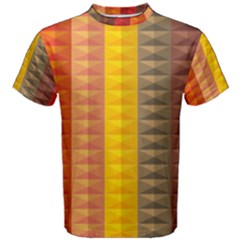 Abstract Pattern Background Plaid Men s Cotton Tee