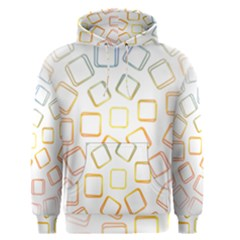 Abstract Geometric Squares Radial Men s Pullover Hoodie by Jojostore