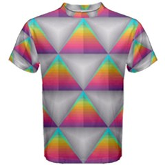 Colorful Triangle Men s Cotton Tee