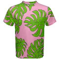 Leaves Tropical Plant Green Garden Men s Cotton Tee by Alisyart