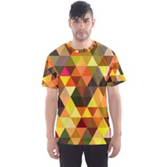 Abstract Geometric Triangles Shapes Men s Sports Mesh Tee