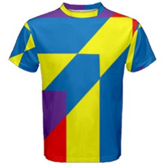 Colorful Red Yellow Blue Purple Men s Cotton Tee