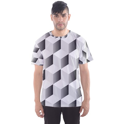 Cube Isometric Men s Sports Mesh Tee by Mariart