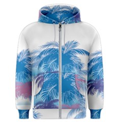 Coconut Tree Background Men s Zipper Hoodie