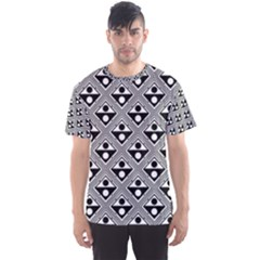 Background Triangle Circle Men s Sports Mesh Tee
