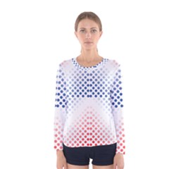 Dots Pointillism Abstract Chevron Women s Long Sleeve Tee by AnjaniArt