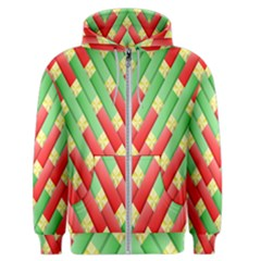 Christmas Geometric Men s Zipper Hoodie