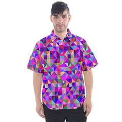 Floor Colorful Colorful Triangle Men s Short Sleeve Shirt by Jojostore