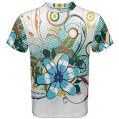Flower Wallpaper Men s Cotton Tee by Jojostore