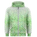 Green Pattern Curved Puzzle Men s Zipper Hoodie View1