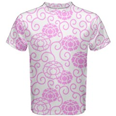 Peony Spring Flowers Men s Cotton Tee