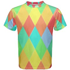 Low Poly Triangles Men s Cotton Tee by Pakrebo