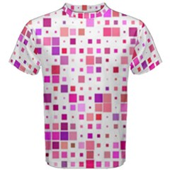Square Pattern Colorful Men s Cotton Tee