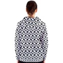 Seamless Abstract Geometric Pattern Women s Zipper Hoodie View2