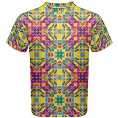 Triangle Mosaic Pattern Repeating Men s Cotton Tee by Mariart