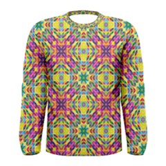 Triangle Mosaic Pattern Repeating Men s Long Sleeve Tee by Mariart