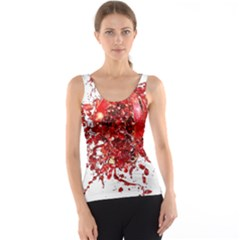 Red Pomegranate Fried Fruit Juice Tank Top