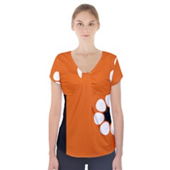 Flag Of Northern Territory Short Sleeve Front Detail Top by abbeyz71