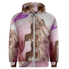 Wonderful Fairy With Feather Hair Men s Zipper Hoodie