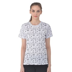 Wallpaper Note Tone Music Women s Cotton Tee by AnjaniArt