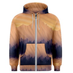 Landscape Nature Mountains Sky Men s Zipper Hoodie