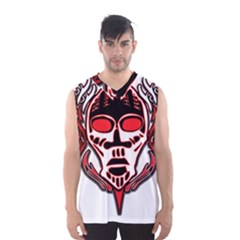 Visual Arts Skull Men s Basketball Tank Top