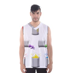Paint Cans Men s Basketball Tank Top