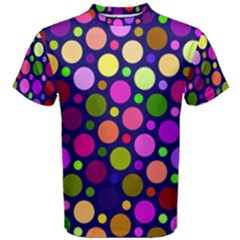 Circle District Colorful Structure Men s Cotton Tee by Jojostore