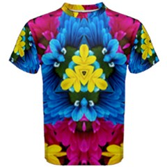 Flowers Kaleidoscope Mandala Men s Cotton Tee
