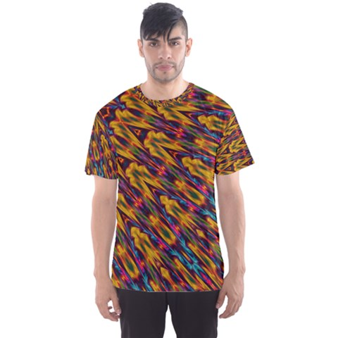 Background Abstract Texture Rainbow Men s Sports Mesh Tee by AnjaniArt