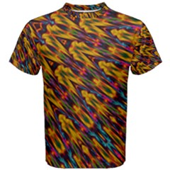 Background Abstract Texture Rainbow Men s Cotton Tee