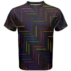 Lines Line Background Men s Cotton Tee by Alisyart