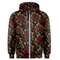 Roses Red Men s Zipper Hoodie