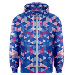 Digital Art Geometry Triangle Men s Zipper Hoodie by Jojostore