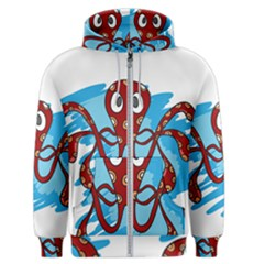 Octopus Sea Ocean Cartoon Animal Men s Zipper Hoodie
