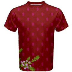 Vivid Burgundy & Heather Men s Cotton Tee by WensdaiAmbrose