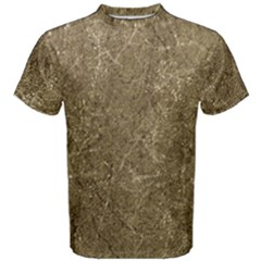 Grunge Abstract Textured Print Men s Cotton Tee by dflcprintsclothing