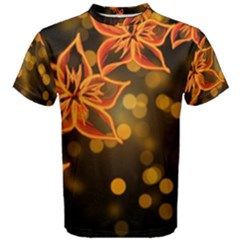 Flowers Background Bokeh Leaf Men s Cotton Tee