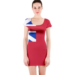 British Red Ensign, 1707–1801 Short Sleeve Bodycon Dress by abbeyz71