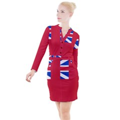 British Red Ensign, 1707–1801 Button Long Sleeve Dress by abbeyz71