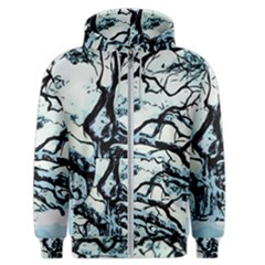 Tree Winter Blue Snow Cold Scene Men s Zipper Hoodie