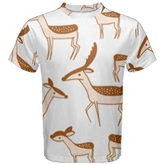 Seamless Animals Deer Pattern Men s Cotton Tee