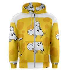 Rat Mouse Cheese Animal Mammal Men s Zipper Hoodie by Sudhe