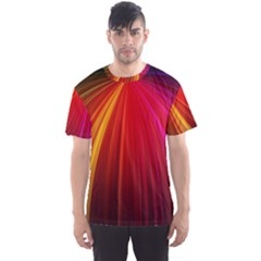 Background Color Colorful Rings Men s Sports Mesh Tee